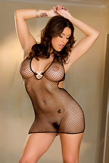 Busty Megan Jones In Fishnet